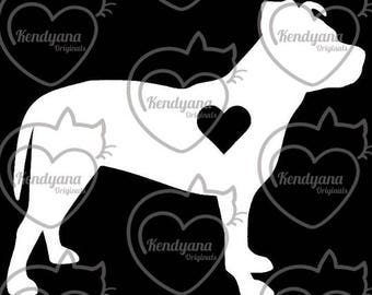 Customizable Window Decals - Pit Bull - Add your dog's name