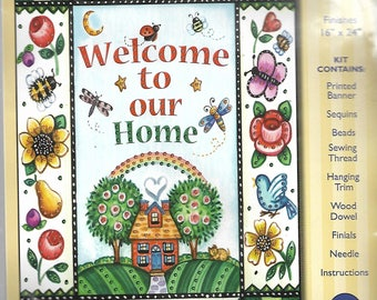 """Design Works """"Welcome"""" jeweled banner kit #9536"""