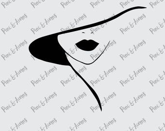 Beyonce with Hat, svg, png, eps, dxf file, cut files, digital downloads