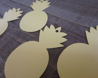 50 Pineapple Tags, Tropical Party Tags, Pineapple Party, 50 Favor Tags, Pineapple Gift Tags