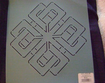 Sashiko Japanese Embroidery Stencil 8 in. Oriental Knot Motif Block/Quilting