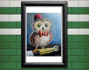 Doctor Who Owl Poster Print