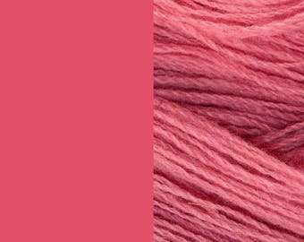 Wool yarn, old pink | bulky, 2 ply worsted quick knit pure wool knitting yarn 100g/130m
