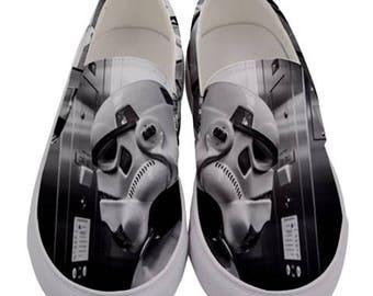 Stormtrooper Men's Slip-On Canvas Shoes - Star Wars Inspired Gift Idea