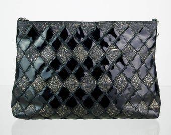 Patchwork vintage enamel handbag