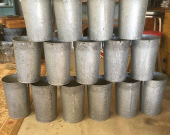 Vintage Sap Bucket - Sap Buckets - Vermont Sap Bucket Galvanized Bucket - Galvanized Steel - Industrial Bucket - Farmhouse Decor - Planter
