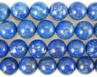 A+ 18mm lapis lazuli round beads 2pcs 11024