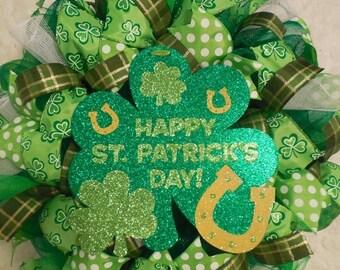 SALE St. Patricks Day Wreath, St. Patricks day, St Patrick's day wreath, St Patricks day wreath, St Patrick wreath, Saint Patricks