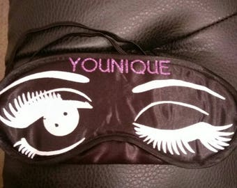 Younique Swag, sleepwear, beauty, eye mask, beauty supplies, rest and relaxation
