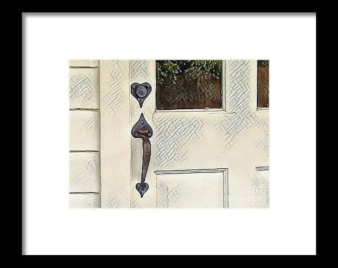 "Framed Print ""Door to the Past"""