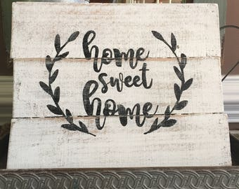 Rustic sign, home sweet home, rustic home decor