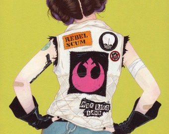 Julian Callos inspired  Punk Leia Vest Back Patches - All or Some