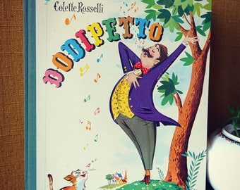 "Illustrated book ""DODIPETTO"" - Album youth vintage - 1956"