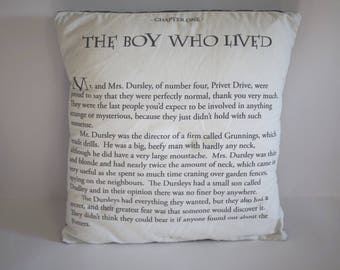 The First Page - Harry Potter Inspired Pillow Case, 18x18 inches, Pillow NOT Included