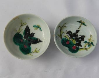 Pair of Celadon Cup of China, Free Shipping!