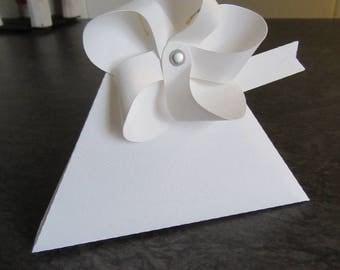 Handmade wedding or baptism favors box