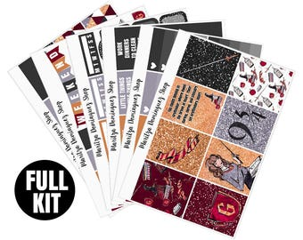 Courage Full Weekly Kit   153+ Planner Stickers