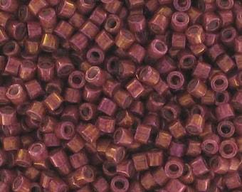 5, 10 or 20 g Delica Miyuki 11/0 DB-1016 metallic iris rhubarb gold (metallic rhubarb gold sheen)