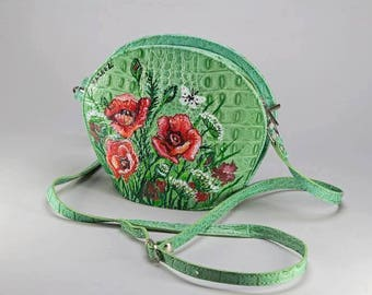 "hand painted handbag ""Flowers"""
