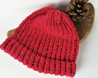Pink knitted baby hat, pink baby beanie, baby shower gift, girl baby hat, baby hats, pink knit baby hat, pink wool hat, lelsloom, sale, hats
