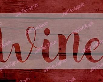 Wine - 10x3.5 -  Re-usable stencil