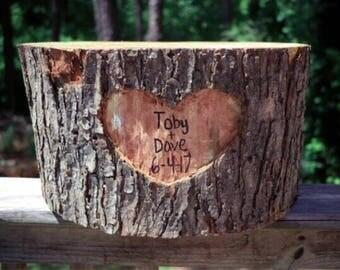 Wood log cake stand, wood cake stand, stump, cake stand, wood log, personalized cake stand!
