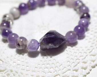 Free Shipping! Amethyst  Bracelet! The Bracelet of Spiritual Growth! Yoga Bracelet. Meditation Bracelet. Mala Bracelet.Yoga Jewellery