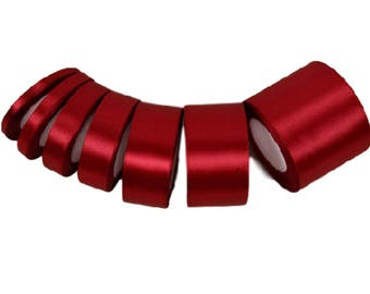 Burgundy Wine Red Satin Ribbon, Ribbon Roll, Gift Wrapping - RB008