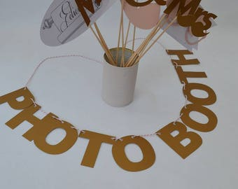 Accessories photobooth wedding rose gold mrs & mr