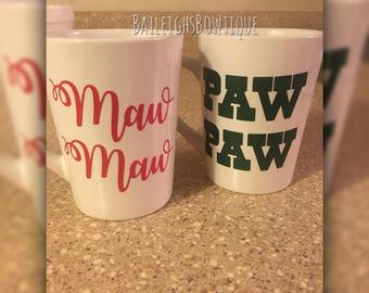 Maw Maw Paw Paw mugs