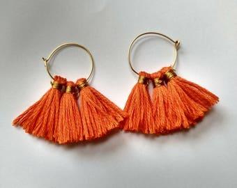 Tassel Earrings silk thread  earring