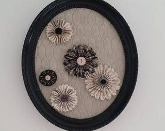 decorated with dark gray oval frame