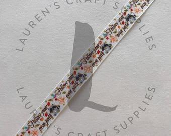 "Follow Your Own Path | Raccoon Ribbon| Free Spirit | Hairbow Ribbon | US Designer Ribbon | 7/8"" Ribbon | Grosgrain Ribbon"