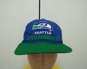 Rare Vintage SEATTLE SEAHAWKS Big Logo Spell Out Cap Hat Free size fit all