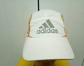 Rare Vintage ADIDAS Five Panels Colour Block Cap Hat One Size Fit All