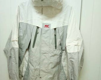 Rare Vintage HELLY HANSEN Outdoor Jacket With Hoodie Size L Large