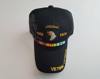 """101st Airborne Vietnam Veteran Cap, """"Screaming Eagles"""" Army Accessories, Patriotic Military Accessories"""