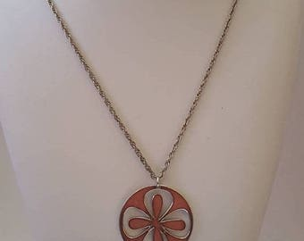 ON SALE Vintage Necklace with de Passille Sylvestre Pendant