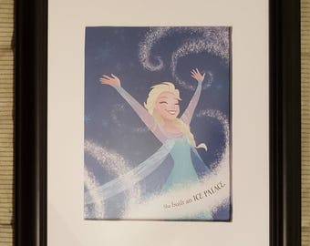 Elsa Builds an Ice Palace - Frozen - Disney - Aproximaitely 6 x 8 inches