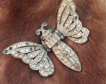 Amazing Art Deco Month Scarf/Fur Pin