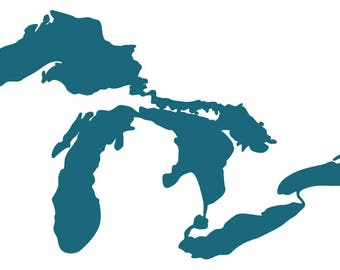 Great Lakes Map Decal