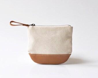 Zipper Coin Purse, Small Pouch, Change Purse, Coin Purse, Small Zipper Pouch ~ Pearl