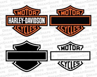 Motorcycle Logo SVG Files, Harley Davidson Motor Cycles Logo SVG File, Motorcycles Club Logo DXF File, MotorCycle Club Logo Instant Download