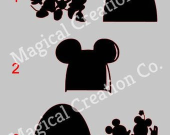Disney Mickey & Minnie Basrboard Decals