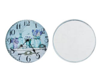 Pattern 25mm glass CABOCHON shows amid Provence