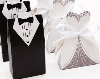 8 pcs Marie 8 pcs wedding box candy for wedding favors