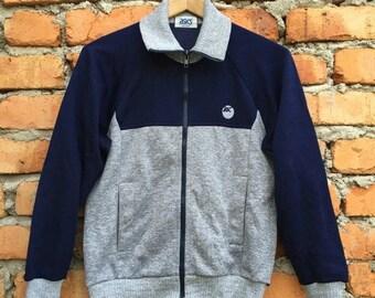 ON SALE 25% Vintage Rare ASICS Japan sweater jacket