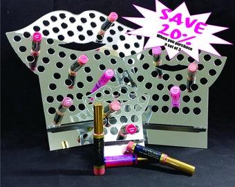 NEW, EASIER design, Mirror Acrylic LipSense, lipstick stand, , Lipsense Stand, Display