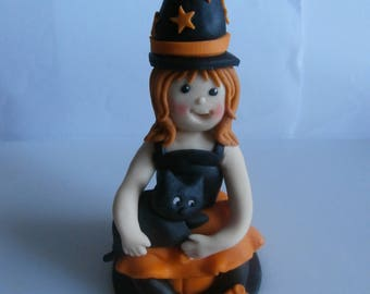 Edible Halloween witch,cake topper,decoration