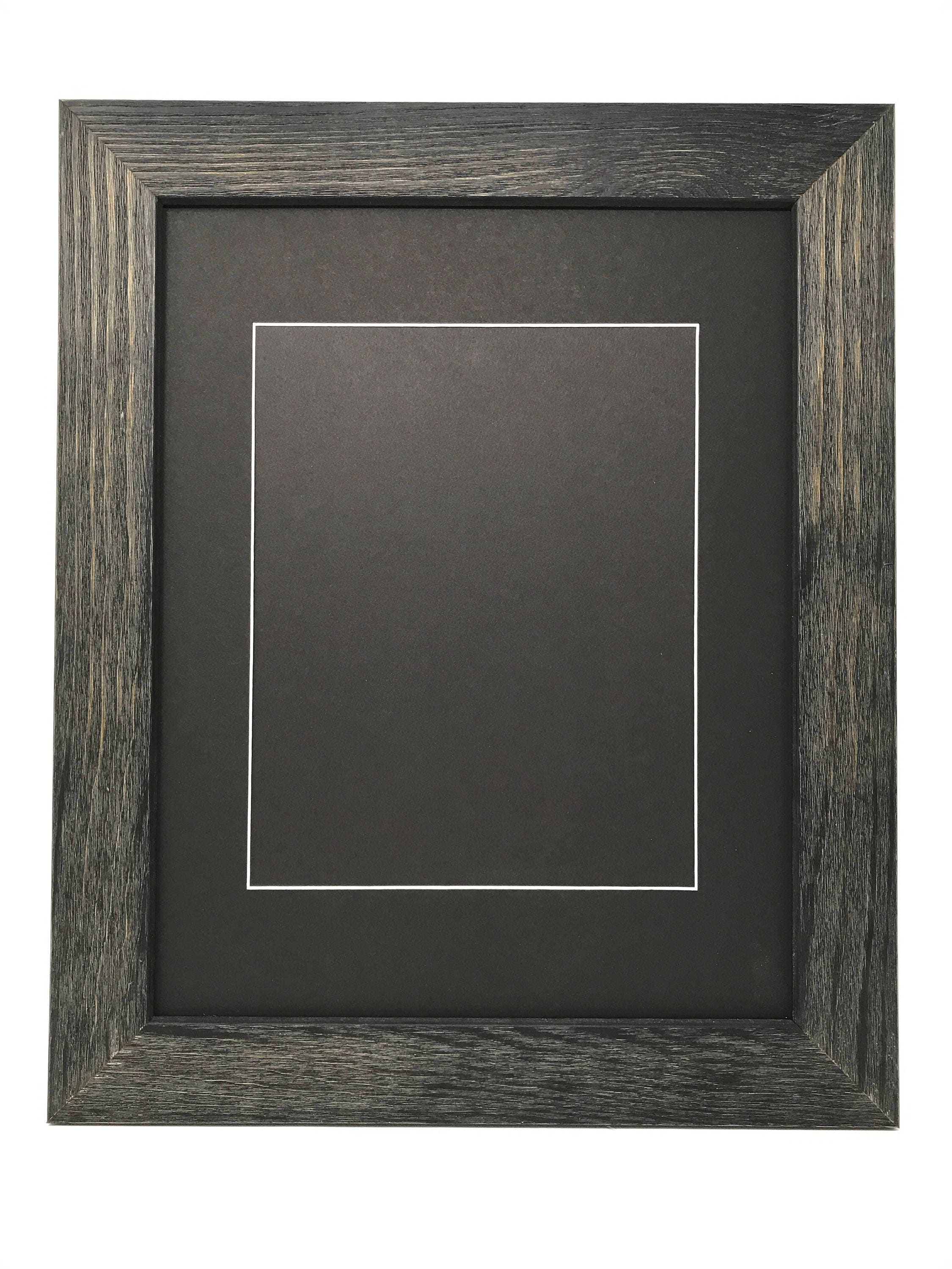 18x24 1 75 Rustic Black Solid Wood Picture Frame With